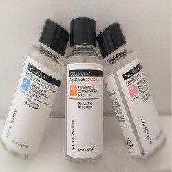 هيدرو الوجه أكوا نظيفة حل/تتركز حل 50 مللي لكل زجاجة هيدرا جلدي المصل أكوا قشر حل الجلد الرعاية