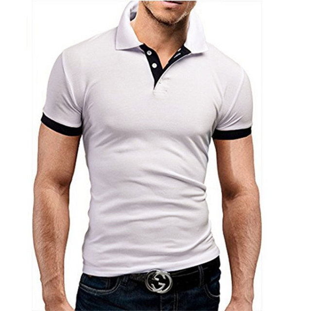 short Sleeve Polo Shirt men Turn-over Collar fashion 4