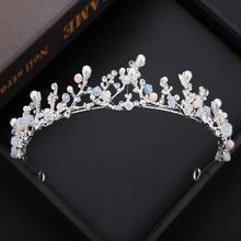 Заколки для невесты в стиле барокко простые и элегантные серебристые