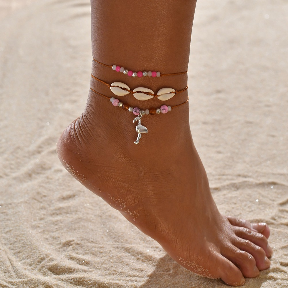 Anklets for Women shell Foot Jewelry Summer Beach Barefoot Bracelet ankle on leg Ankle strap Bohemian Accessories shell anklets