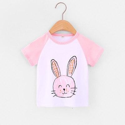 VIDMID Children Summer Clothing Girls Short Sleeve Tees Tops Clothes Kids Cartoon Print T-shirt Baby girl cotton T-shirt 4018 04 2