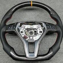 Nueva reparación de cuero de fibra de carbono de volante para Mercedes-Benz GLA GLC sobre las de la CIA AMG GLK GLS 2004, 2017, 2008, 2007, 2019, 2013, 2009.