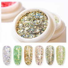 12 Colors 3D Nail Art Mixed Shaped Glitter UV Gel Powder DIY Dust Sequins Manicure Decoration