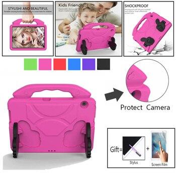Pokrowiec dziecięcy do Huawei Mediapad T3 10 9.6 AGS-L09/L03/W09 ręczny, odporny na wstrząsy stojak na Tablet do Huawei T5 10.1 AGS2-W09