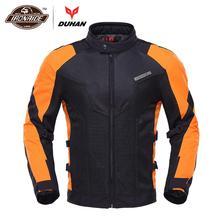 DUHAN Motorcycle Jacket Men Moto Jacket Mesh Chaqueta Moto R