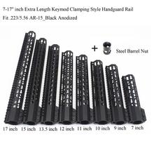 Купить с кэшбэком 7'' 9'' 10'' 11'' 12'' 13.5'' 15'' inch Length Heavy Slim Clamping Style Key mod Free Froating Handguard Rail Fit .223 Rifle