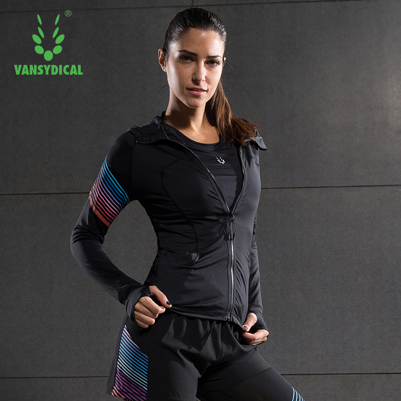 running - Running Jacket For Women Yoga Zipper Long Sleeve Female Sport Fitness gym Clothing Ladies Hoodies Sport Chaqueta Deportiva Mujer
