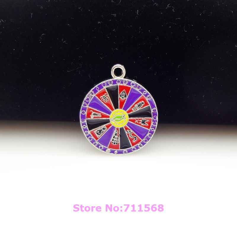 Roulette Wheel Dangle Plate Nightmare Before Christmas Necklace Pendants Chain Bracelet Charms For DIY Fashion Jewelry