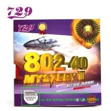 Original 729 amizade 802-40 802 40 mistério iii curto espinhas para fora tênis de mesa pingpong borracha com esponja espessura 2.2mm