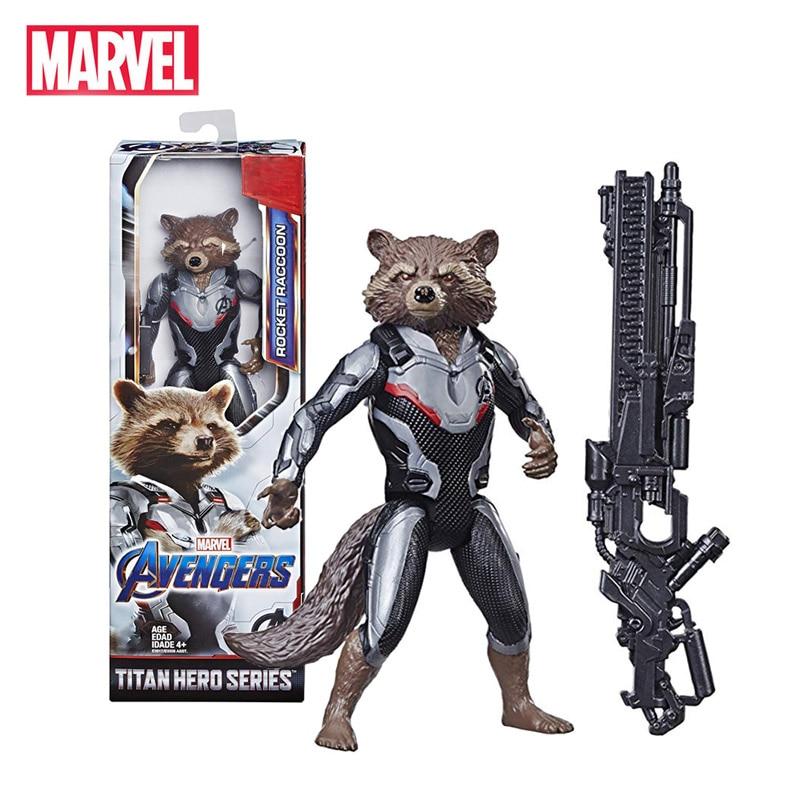 Marvel Avengers Rocket Raccoon Endgame Titan Hero Series Action Figure Hot Toys E3917/E3308 Christmas New Year Gift For Kids