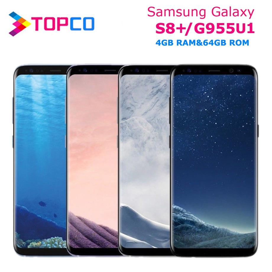 Оригинальный разблокированный телефон Samsung Galaxy S8 +, S8 Plus, G955U, G955U1, 4G, LTE, NFC, Android, Восьмиядерный Snapdragon, 6,2 дюйма, 12 МП, 4 Гб и 64 ГБ, NFC
