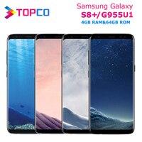 Samsung Galaxy S8 + S8 más G955U G955U1 Original desbloqueado 4G LTE NFC Android Teléfono Snapdragon Octa Core 6,2