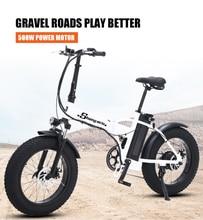Ebike elektrische bike 500W 4 0 fett reifen elektrische fahrrad beach cruiser bike Booster fahrrad klapp