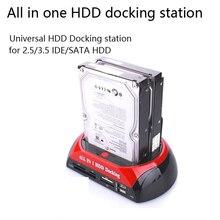 HDD Docking Station Dual Internal Hard Disk Drive Docking Station Base HDD Enclosure for 2.5 Inch 3.5 Inch IDE/SATA USB 2.0 цена
