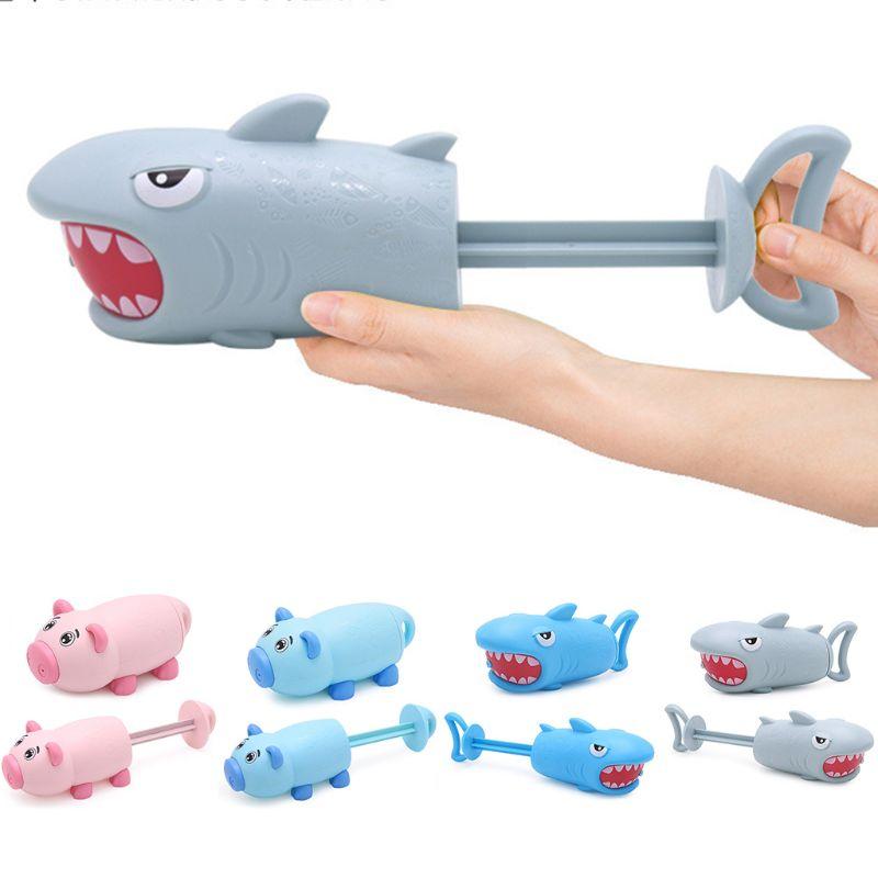 1PC Cartoon Pig Shark Shape Mini Pump Children Beach Swimming Pool Toy Water Gun Girls Boys Gifts