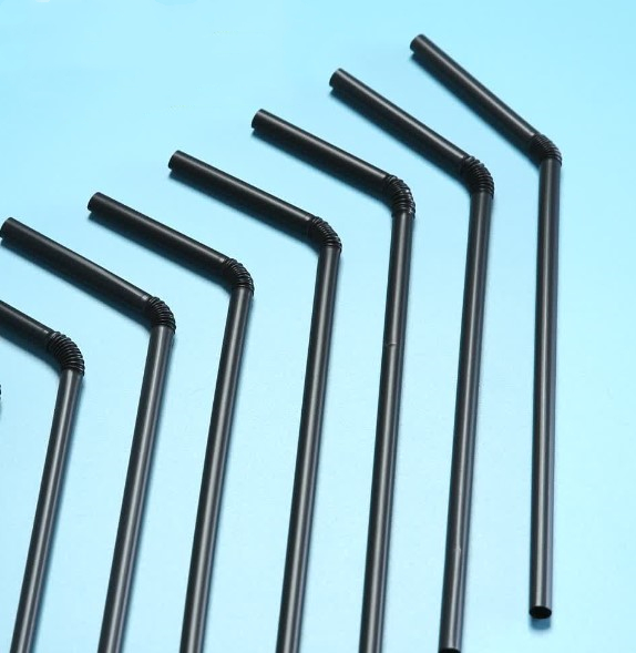 1pcs Eco Friendly Biodegradable Jumbo Plastic Straws Environmentally Black