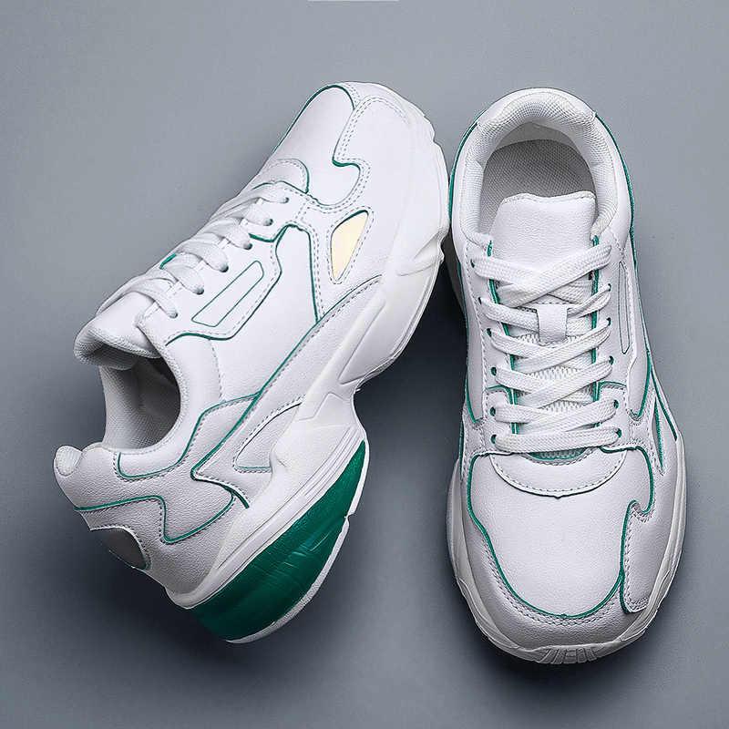 Times New Roman Casual PU Leder Schuhe Männer Turnschuhe Männlichen Schuhe Komfortable Wohnungen Mode Walking Freizeit Tenis Masculino