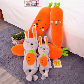 60cm Cartoon rabbit Carrot Plush toy Cute Simulation Vegetable Carrot Pillow Dolls Stuffed Soft Toys for Children Gift cute simulation french fries pillow dolls