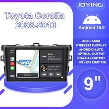 """9 """"Android10 Radio samochodowe Stereo nawigacja multimedialna GPS odtwarzacz dla Toyota Corolla E140/150 2008 2009 2010 2011 2012 2013"""