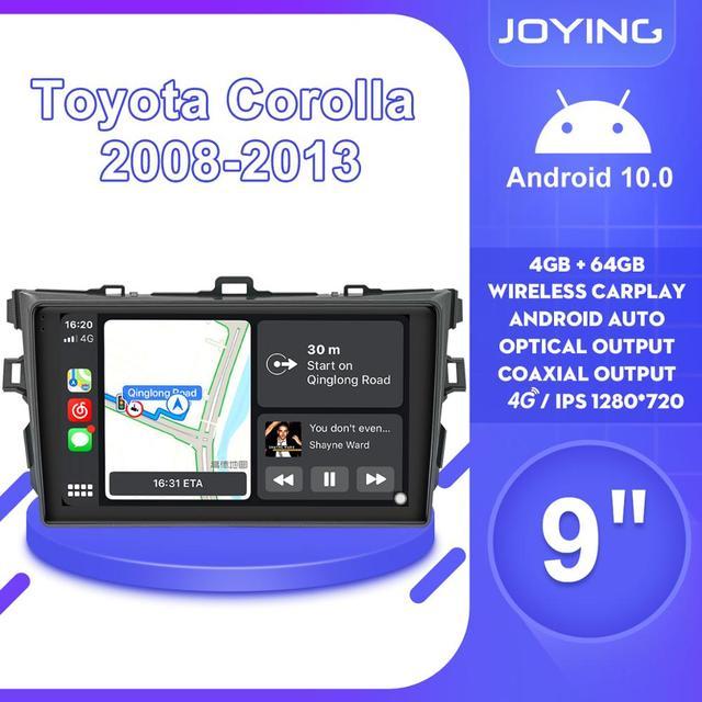 "9 ""Android10 oto araba radyo Stereo GPS navigasyon multimedya oynatıcı Toyota Corolla için E140/150 2008 2009 2010 2011 2012 2013"