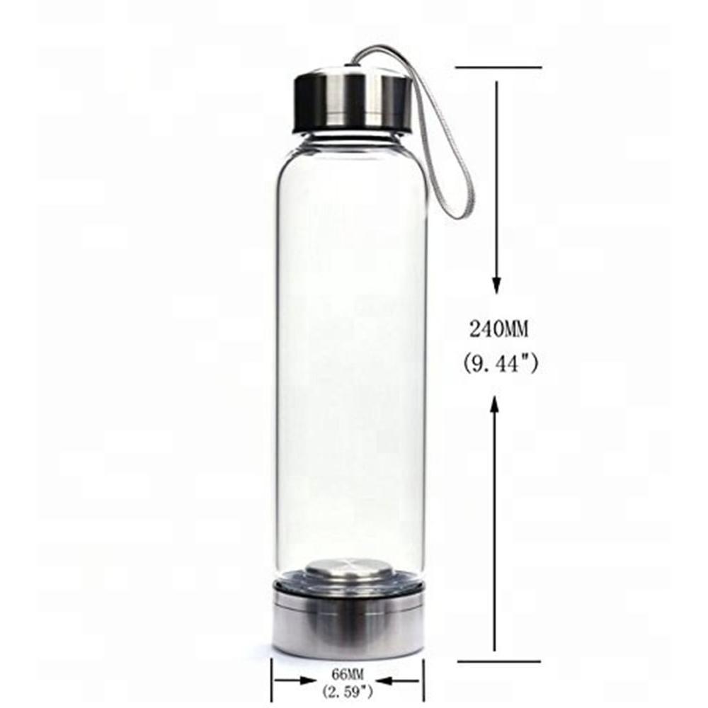 Natural Quartz Gemstone Glass Water Bottle Direct Drinking Cup Glass Crystal Obelisk Wand Healing Wand Bottle