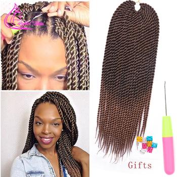 Wyrafinowane włosy 0 8cm Diamater ręcznie szydełkowe warkocze Senegalese Twist przedłużanie włosów Ombre brązowe warkocze syntetyczne 22 nici pc tanie i dobre opinie Refined Hair Niska Temperatura Włókna CN (pochodzenie) 22 nici opakowanie