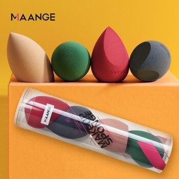 MAANGE 4Pcs Makeup Sponge Set Blender Cosmetics Foundation Concealer Blending Powder Liquid Cream Make Up Puff Maquiagem Tools 1