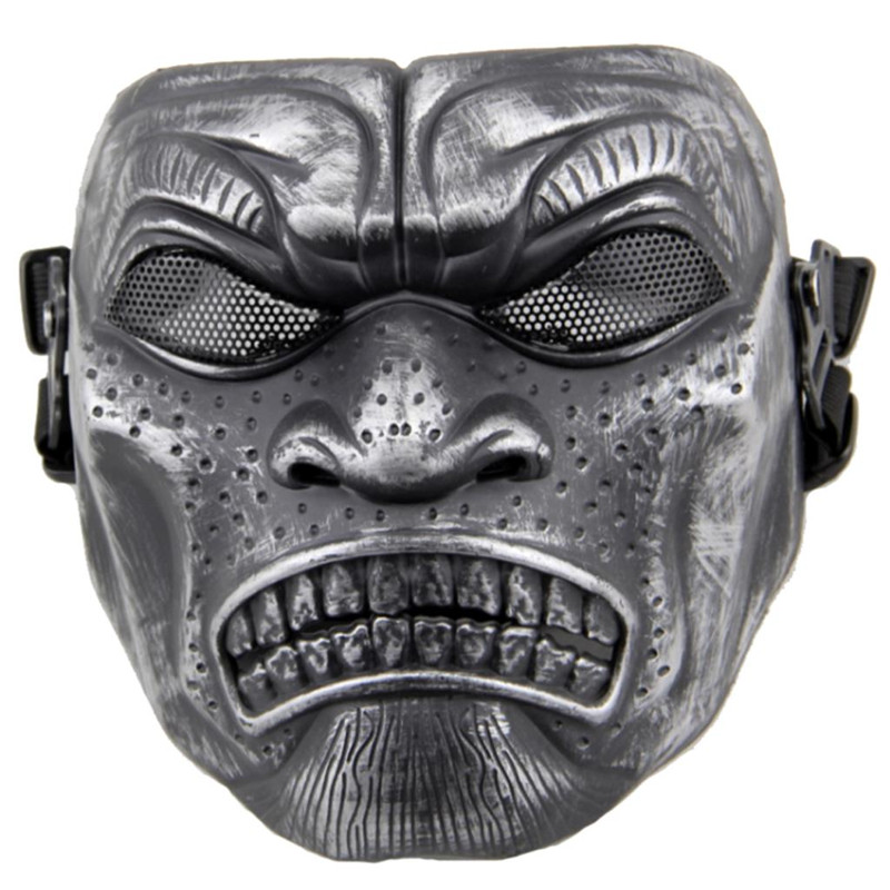 Sparta Warriors Full Face Tactical Airsoft Mask Mesh Skull Hunting Paintball Accessories Military Army Wargame Face Masks