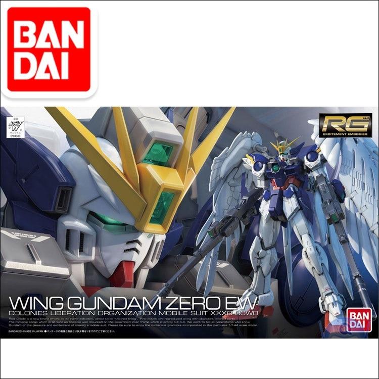 Japaness Bandai Gundam Model RG 1/144 WING ZERO GUNDAM EW Justice Freedom 00 Destiny Armor Unchained Mobile Suit Kids Toys