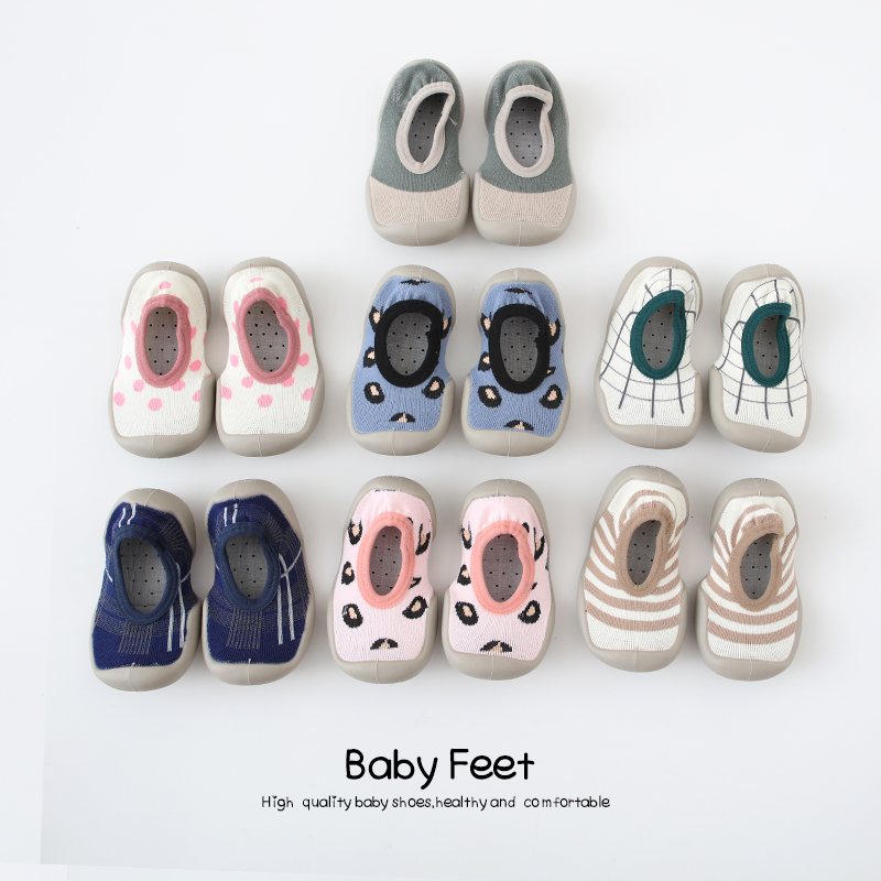 Baby Shoes With Soft Rubber Baby Girl Baby Boy Floor Sock Shoes Spring Summer Anti-slip