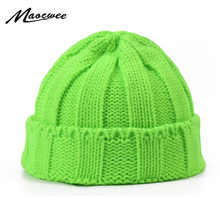 Women Men Beanies Winter Outdoor Hat Candy Colors Hats Thick Warm Skullies & Beanine Soft Knitted Fashion Cotton Caps