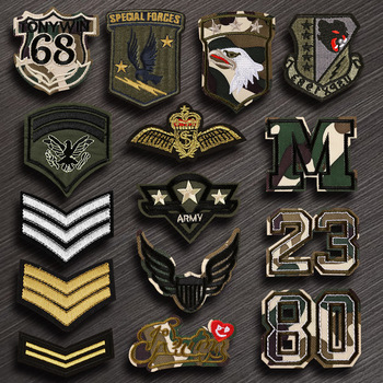 Army Military Patches Embroidery Iron on USA Patch for Clothing Backpack Tactical Badges Clothes DIY Decor stripes