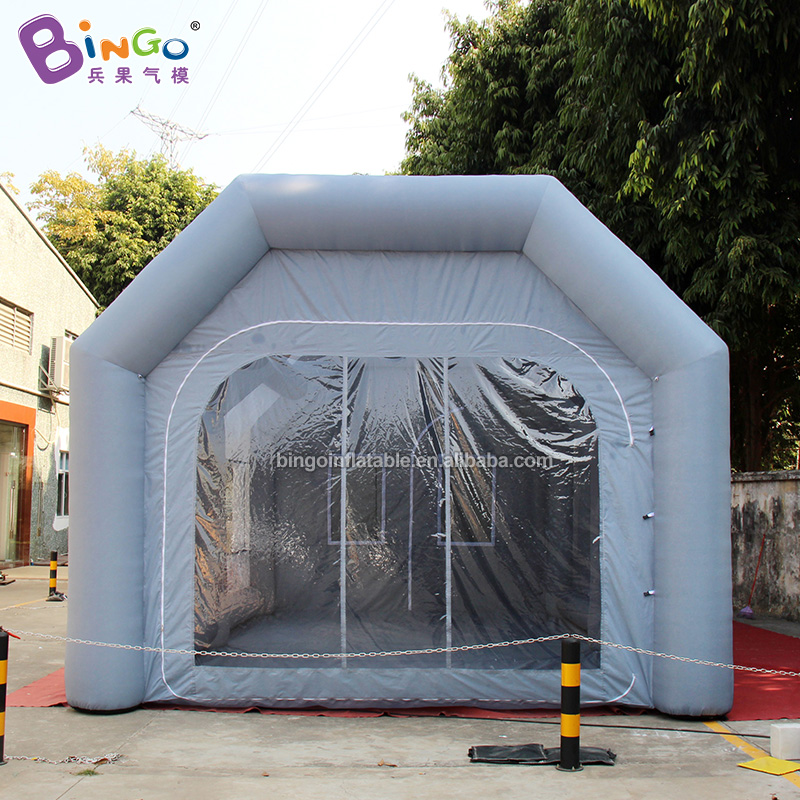 Custom made 9X5X4 meters inflatable spray booth / giant inflatable <font><b>car</b></font> <font><b>garage</b></font>/paint booth toy <font><b>tents</b></font> image