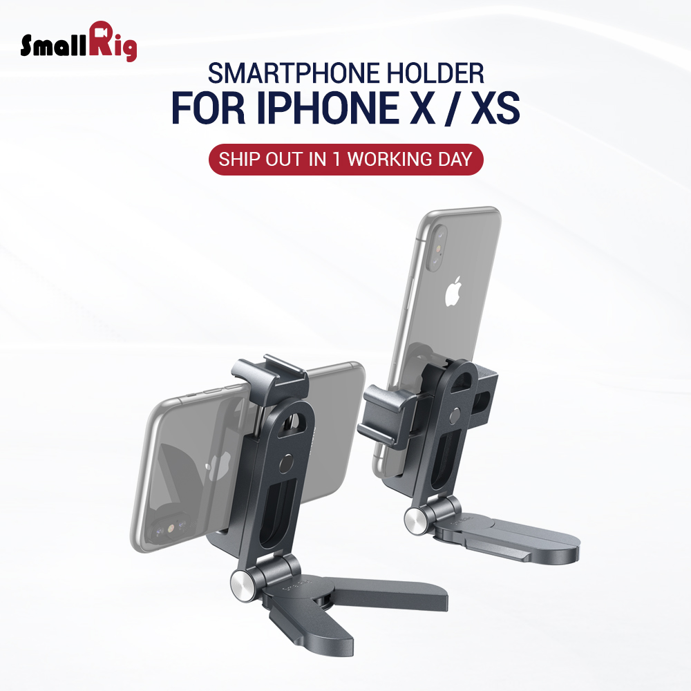 SmallRig Universal Smartphone Holder For Iphone X XS Vlogging Cage 360 Degree Pan Adjustment & 270 Degree Tilt Adjustment 2415