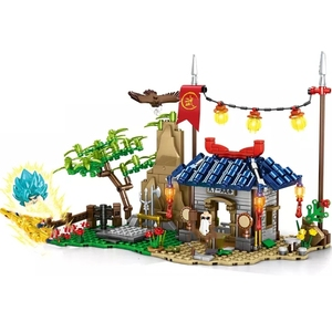 Image 2 - New 445pcs Dragon Ball Building Blocks Vegeta Turtle Fairy SAIYAN SUN GOKU MASTER ROSHI Blocks Figures Toys