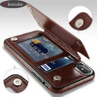 Étui en cuir rétro Lbiaodai pour apple iphone