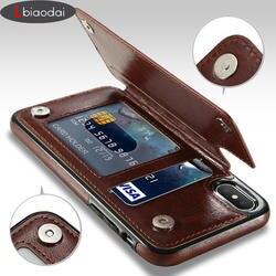 Lbiaodai ретро PU кожаный чехол для apple iphone