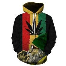 Популярный пуловер с 3d принтом сорняков свитшоты капюшоном