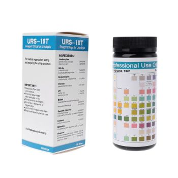 New 100 Strips URS-10T Urinalysis Reagent Strips 10 Parameters Urine Test Strip Leukocytes Nitrite Urobilinogen Protein PH