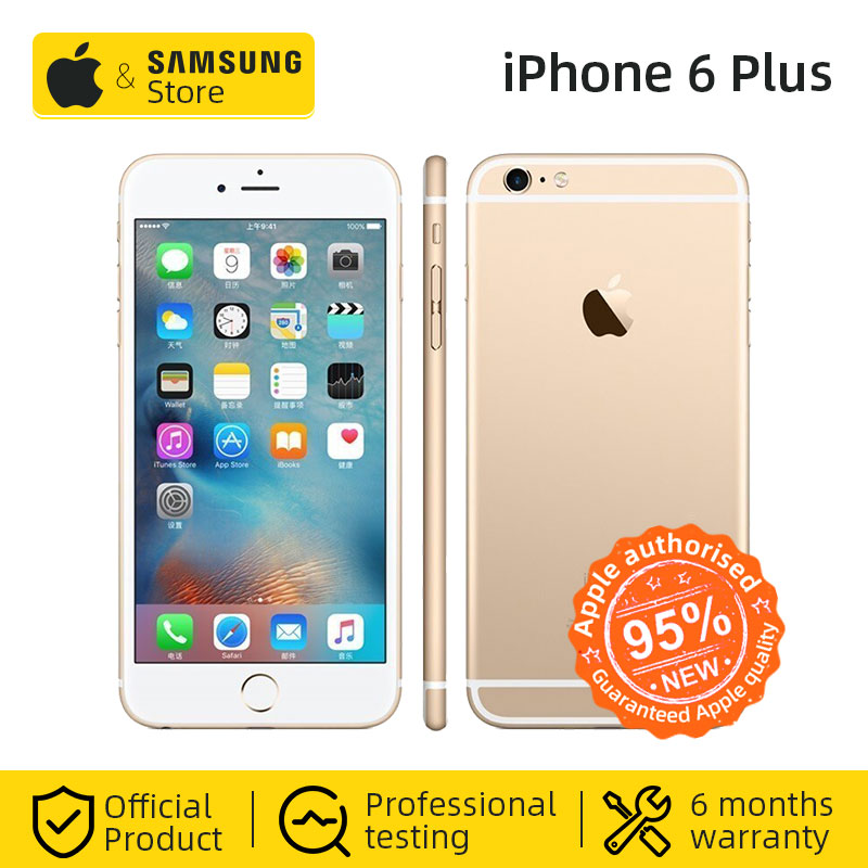 Original Apple iPhone 6 Plus 16/64GB ROM 5,5 inch 1080P <font><b>Display</b></font> Dual Core 1,4 GHz 4G LTE Verwendet handy image