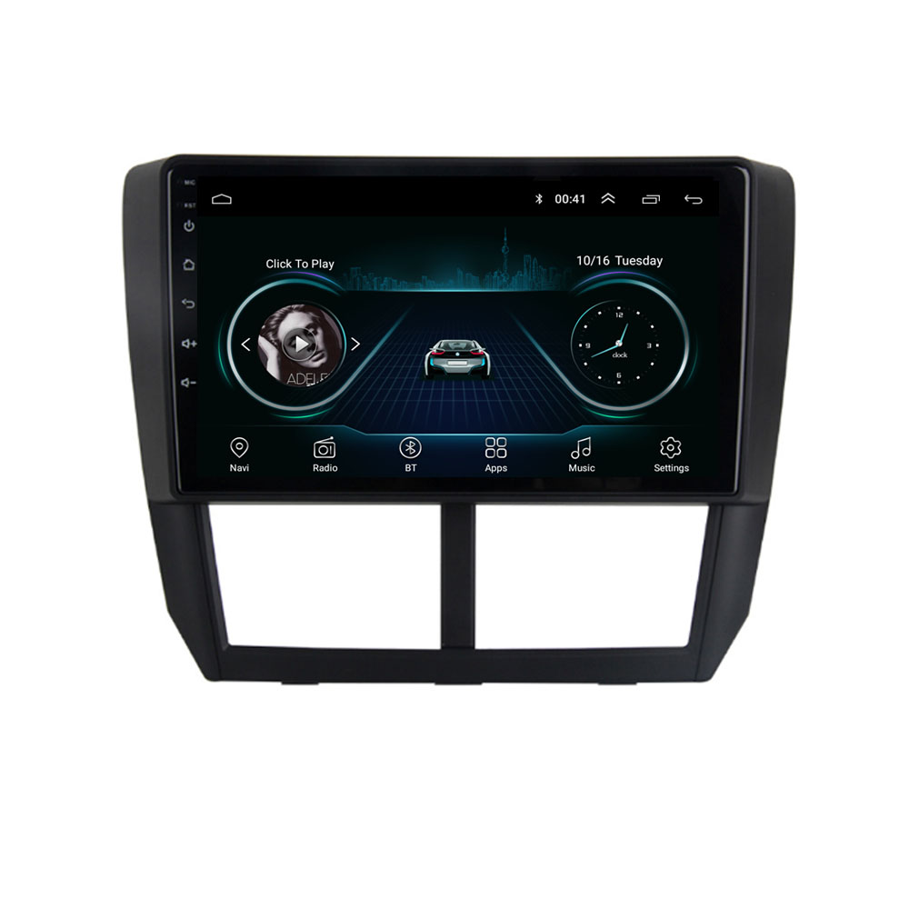 9 inch Car Multimedia Player 2 din Android GPS Navigation For Subaru Forester Impreza 2008 2009 2010 2011 2012 image