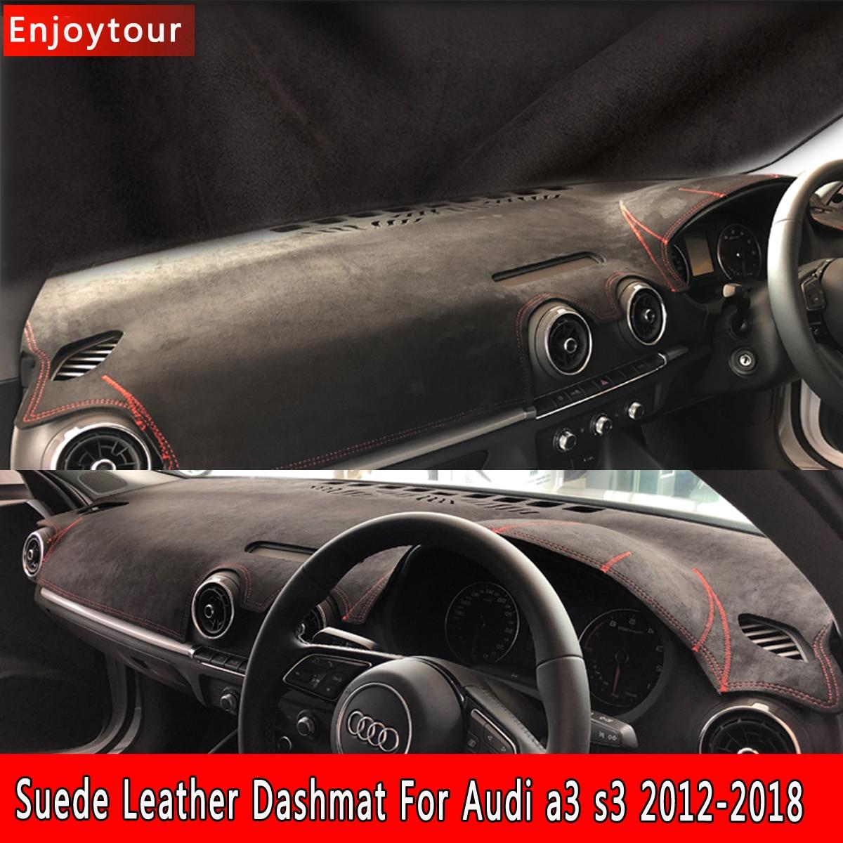 Car Styling Suede Leather Dashmat Dashboard Cover Pad Dash Mat Carpet For Audi A3 S3 Sportback 2012 2015 2016 2017 2018 Rhd Car Anti Dirty Pad Aliexpress