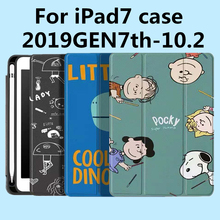Dành Cho iPad 7th Thế Hệ Ốp Lưng, Bao Da New Ipad 10.2 2019 Với Bút Chì, nhẹ Thông Minh Bao Mềm TPU, Gen 7 2019