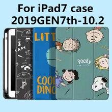 Voor Ipad 7th Generatie Case, Nieuwe Ipad 10.2 Case 2019 Met Potlood Houder, lichtgewicht Smart Cover Met Zachte Tpu Terug, Gen 7 2019