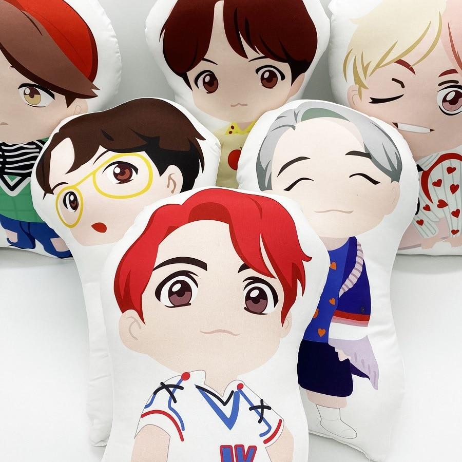 Kpop Star Bangtan Boys Plush Toy Collection Cartoon Soft Stuffed Dolls Pillow Birthday Gift For Children
