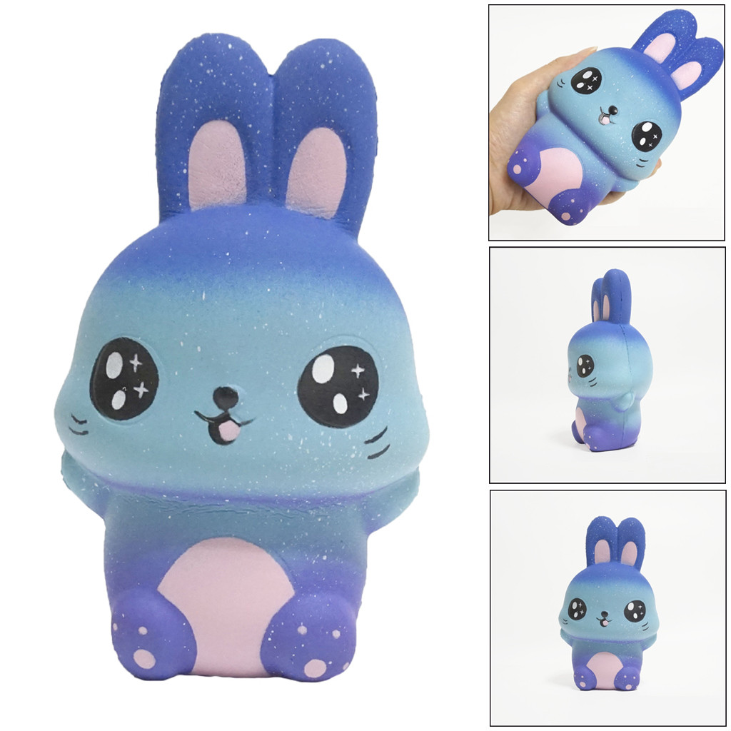 Jumbo Kawaii Starry Cute Rabbit Slow Rising Collection Squeeze Stress Reliever Toy  Relief Toys For Baby Kids Toy Gift  L1218