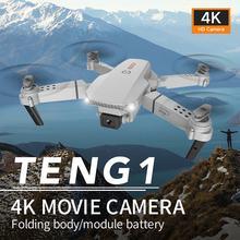 E88 pro zangão 4k hd câmera dupla posicionamento visual 1080p wifi fpv zangão altura preservação rc quadcopter dron brinquedos