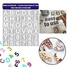 Alphabet Letter Stencils 36 Pcs Reusable Plastic Letter Number Templates Art Craft Stencils for Wood Wall Chalkboard tool