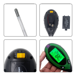 Image 4 - Termômetro digital 4 em 1 para uso múltiplo, medidor de ph do solo, umidade, luz solar, monitor de temperatura para jardinagem, plantas