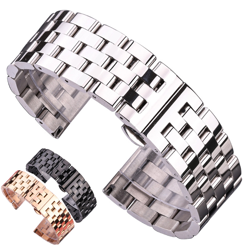 18mm 20 22mm Stainless Steel Replacement Wrist Watch Band Bracelet Strap For Rolex Datejust Daytona MILGAUSS Omega IWC Tag